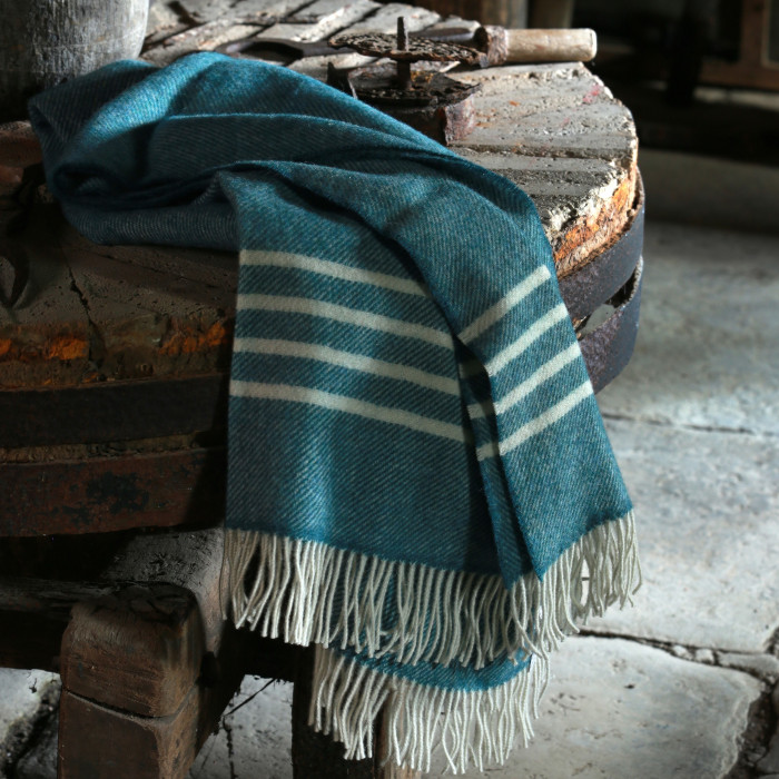 Irish wool Throw designed & created by Cushendale Woollen Mills